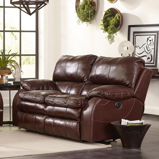 Stupendous Verona Lay Flat Reclining Loveseat Walnut Gmtry Best Dining Table And Chair Ideas Images Gmtryco