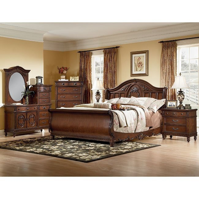 Southern Heritage Cherry Sleigh Bedroom Set