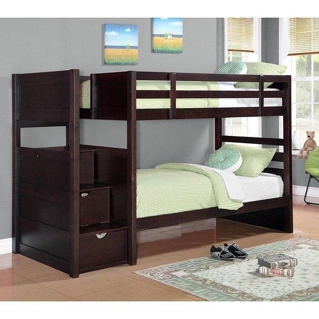 Elliot Bunk Bed Coaster Furniture Furniture Cart