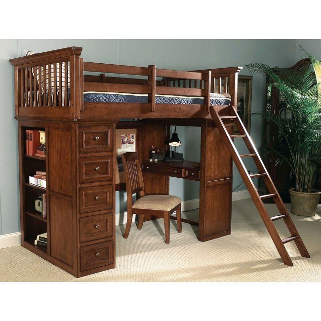 American Spirit Loft Bed Legacy Classic Kids Furniture Cart