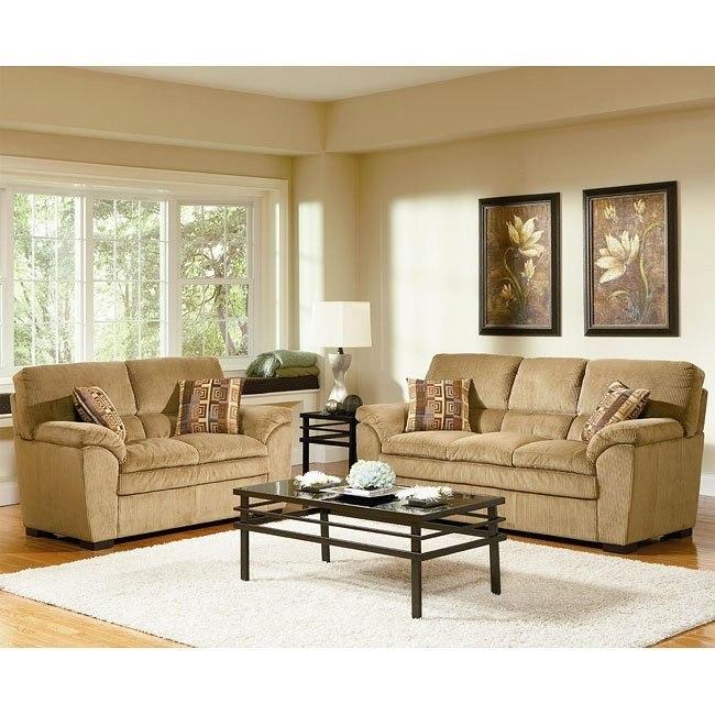 Molly Tan Living Room Set Coaster Furniture | Furniture Cart