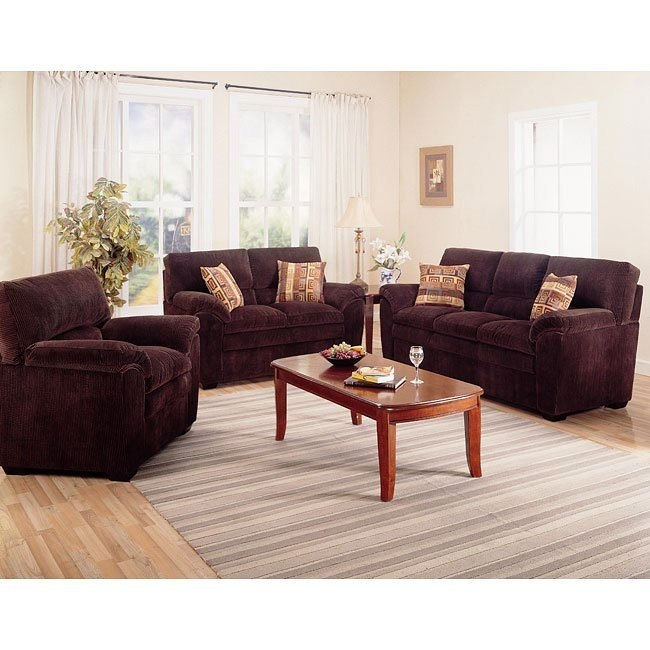 Molly Chocolate Living Room Set