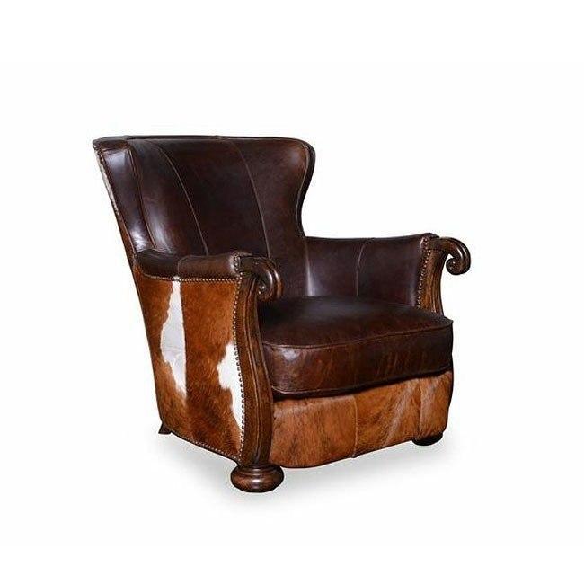 Kennedy Walnut Hide Lounge Chair Art Furniture Furniture Cart