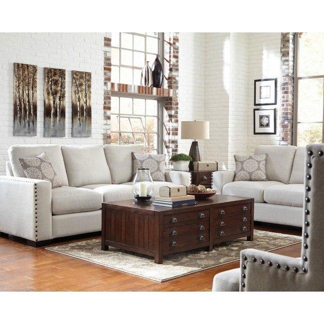 Rosanna Living Room Set (Cream)