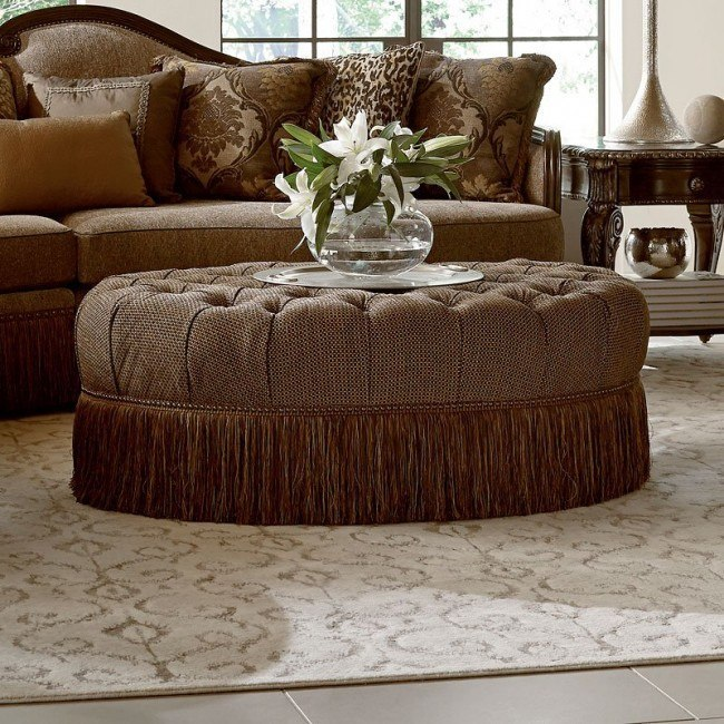 Super Giovanna Sable Cocktail Ottoman Gmtry Best Dining Table And Chair Ideas Images Gmtryco