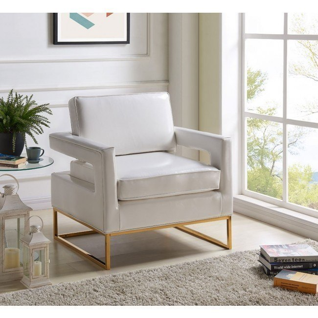 Surprising Amelia Leather Accent Chair White Ibusinesslaw Wood Chair Design Ideas Ibusinesslaworg