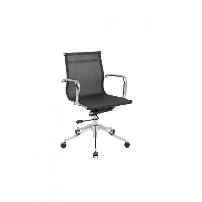 Adjustable Height Pneumatic Office Chair Black Chintaly Imports Furniture Cart