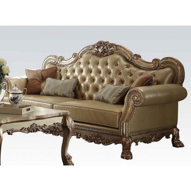 Dresden Sofa Gold Patina