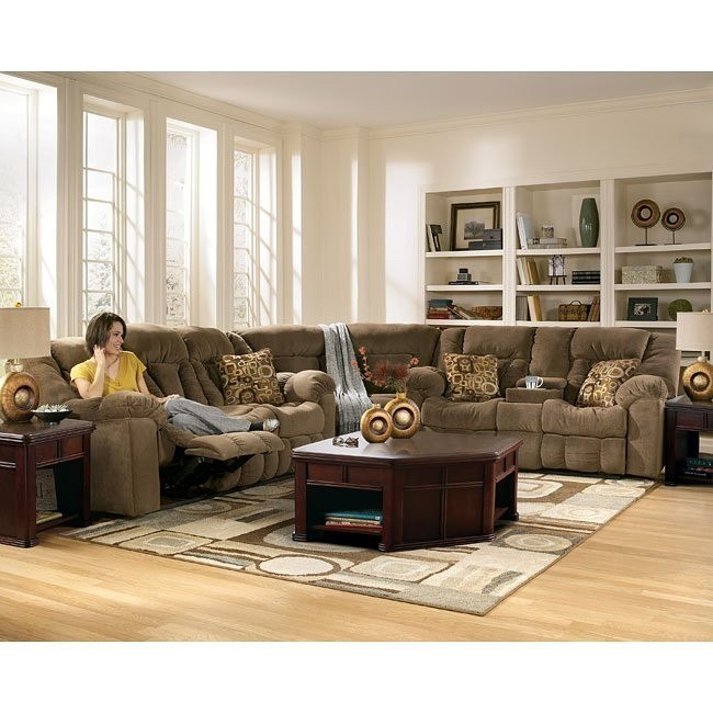 Macie - Brown Reclining Sectional Living Room Set
