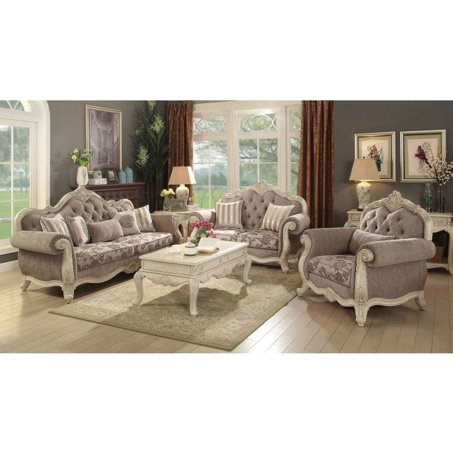 Ragenardus Living Room Set (Antique White)