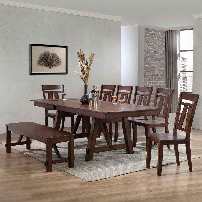 Winslow Rectangular Dining Room Set (Rustic Cherry)