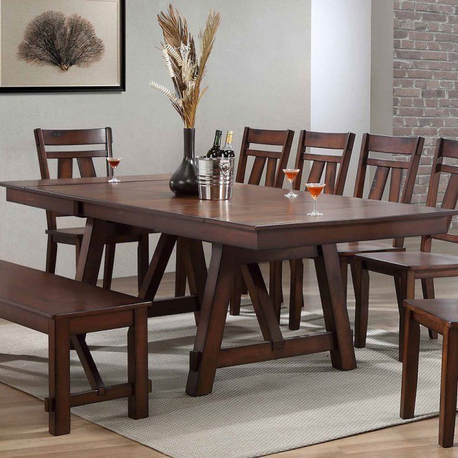 Winslow Rectangular Dining Table (Rustic Cherry)