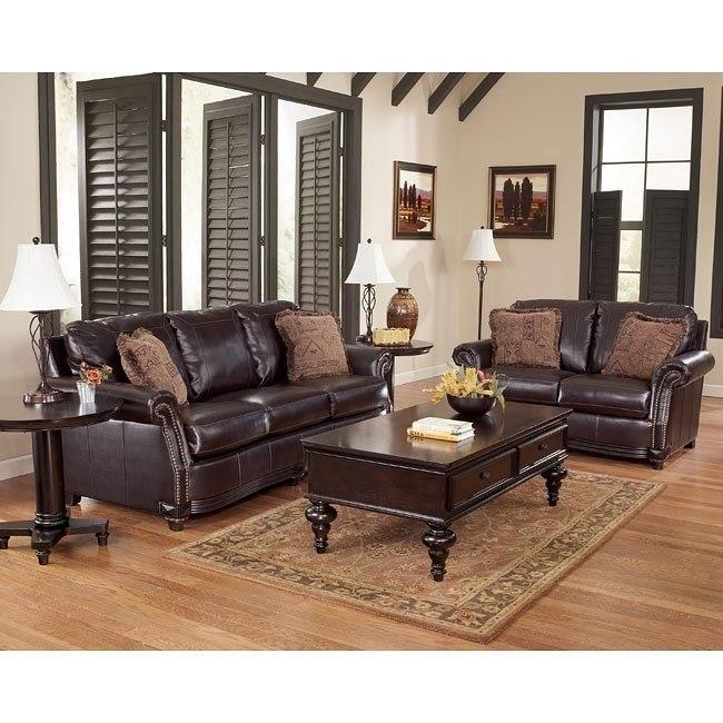 Collinsworth Place DuraBlend - Burgundy Living Room Set