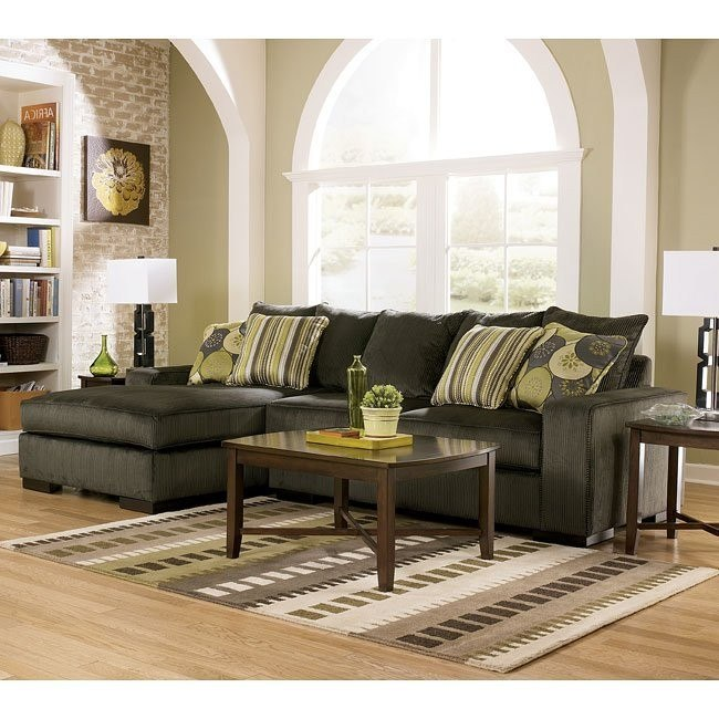 Freestyle - Pewter Sectional Living Room Set