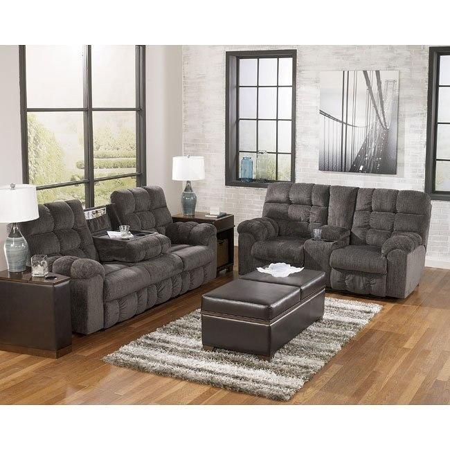 acieona slate reclining living room set signature design