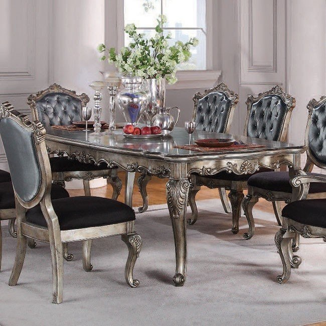 Chantelle Dining Table W Two Leaves
