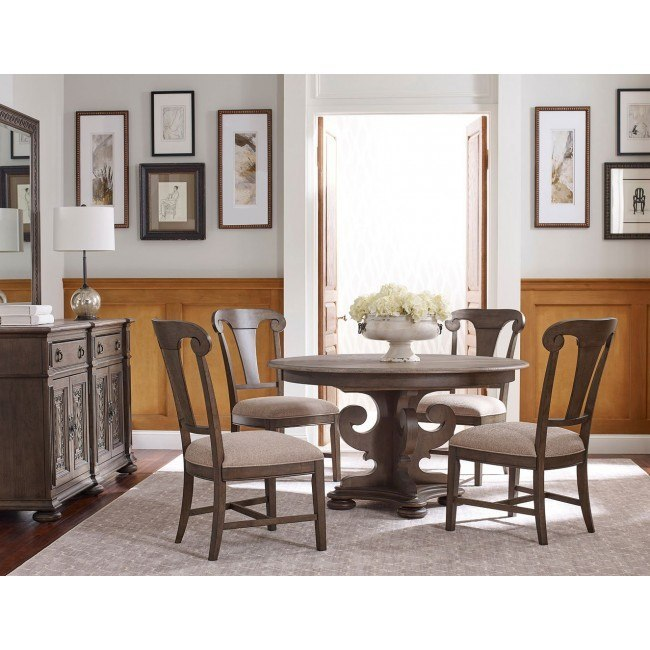 Greyson Grant Round Dining Set W/ Fulton Chairs Kincaid