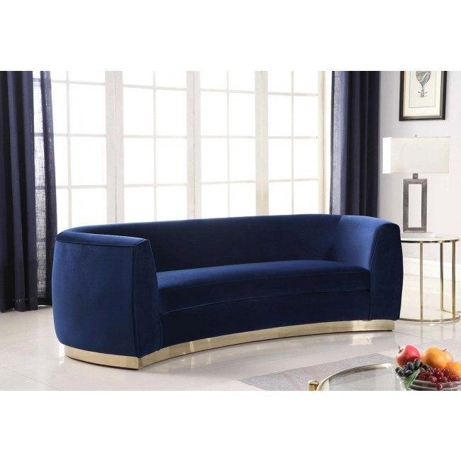 Navy Gold Meridian Furniture