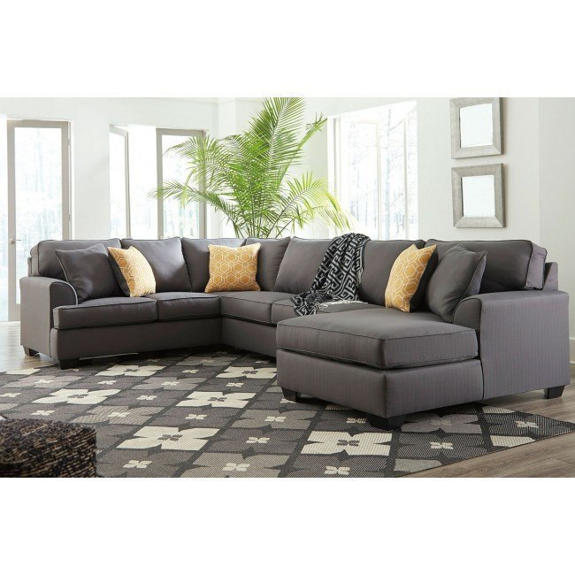 Peachy Brioni Nuvella Gray Right Chaise Sectional Uwap Interior Chair Design Uwaporg