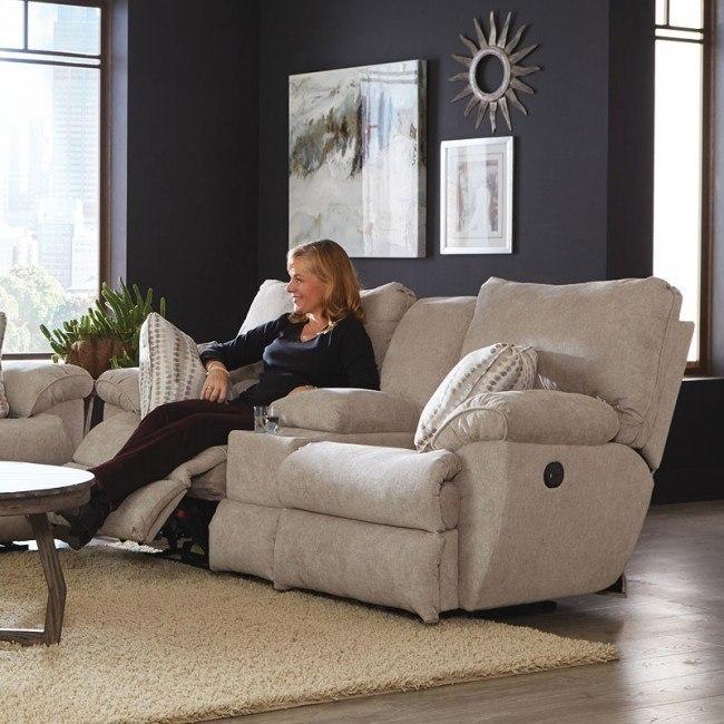 Fabulous Sadler Power Lay Flat Reclining Loveseat W Console Jute Creativecarmelina Interior Chair Design Creativecarmelinacom