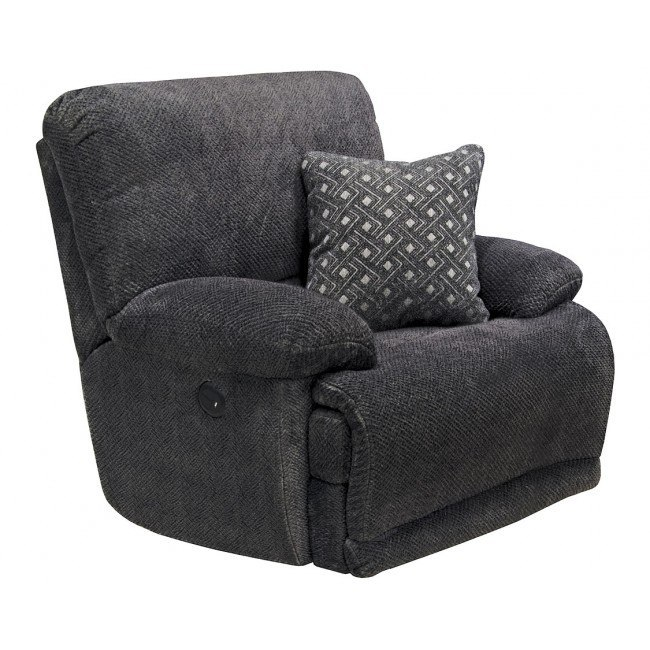 Ashley Furniture In Burbank: Burbank Power Lay Flat Recliner (Smoke) Catnapper