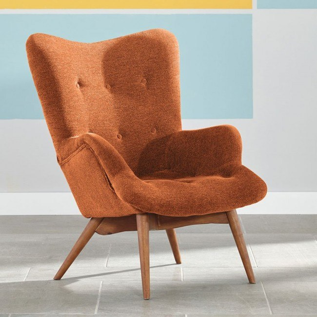 Admirable Pelsor Orange Accent Chair Pabps2019 Chair Design Images Pabps2019Com