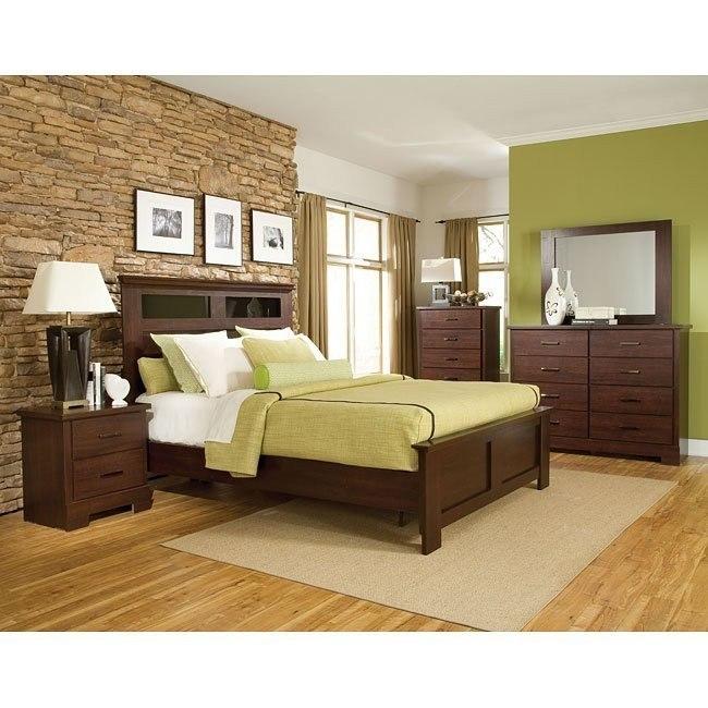 Marshall Merlot Panel Bedroom Set Standard Furniture Furniture Cart