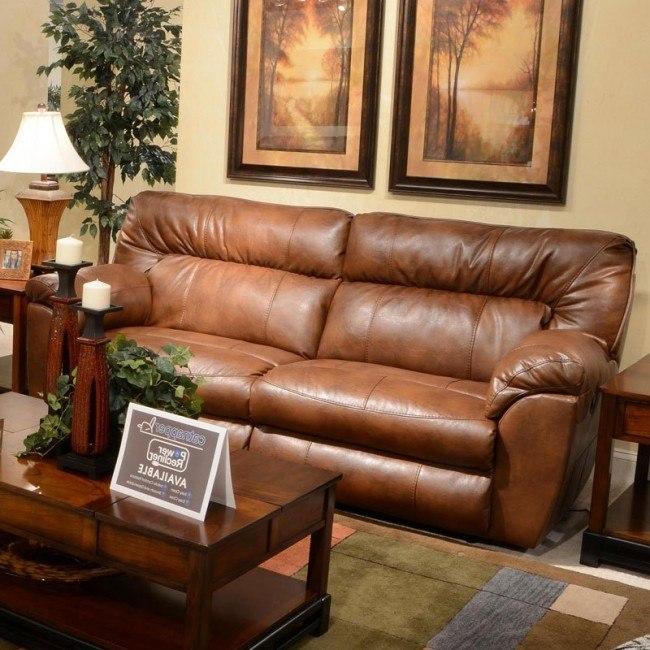 Marvelous Nolan Power Extra Wide Reclining Sofa Chestnut Inzonedesignstudio Interior Chair Design Inzonedesignstudiocom
