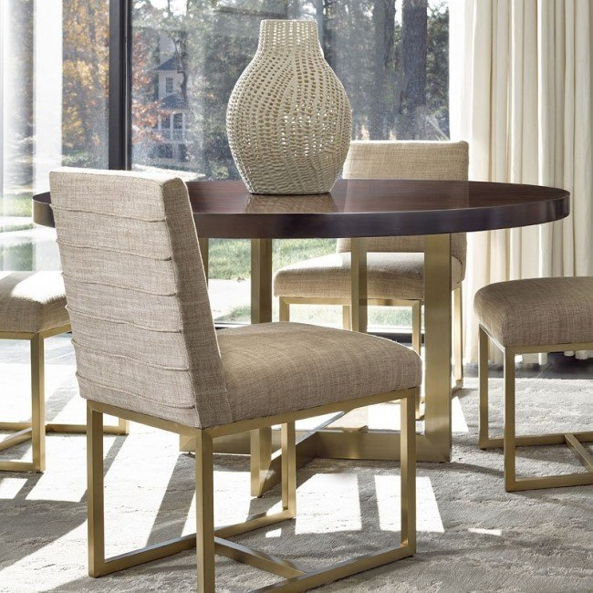 Modern Gibson Round Dining Table (Mahogany)