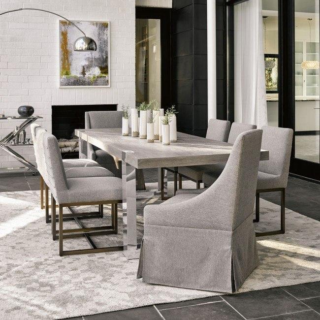 Modern Desmond Dining Room Set Flint W Chair Choices Universal Furniture Furniture Cart