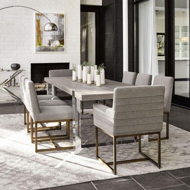 Modern Desmond Dining Room Set Flint W Cooper Quartz Chairs Universal Furniture Furniture Cart