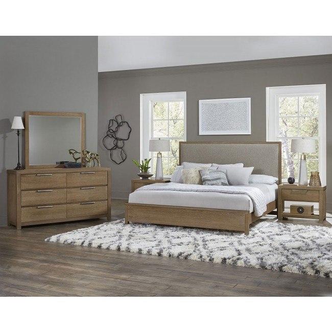 American Modern Upholstered Low Profile Bedroom Set Natural Vaughan Bassett Furniture Cart