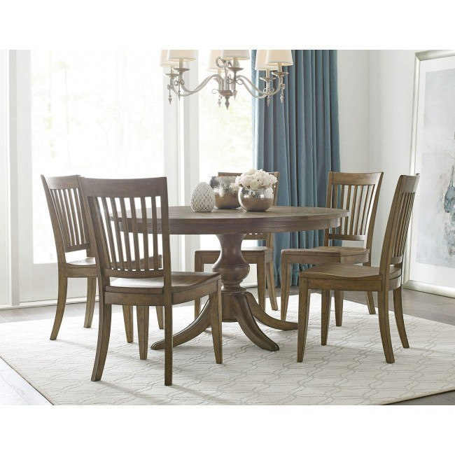 The Nook 54 Inch Round Dining Room Set (Oak)