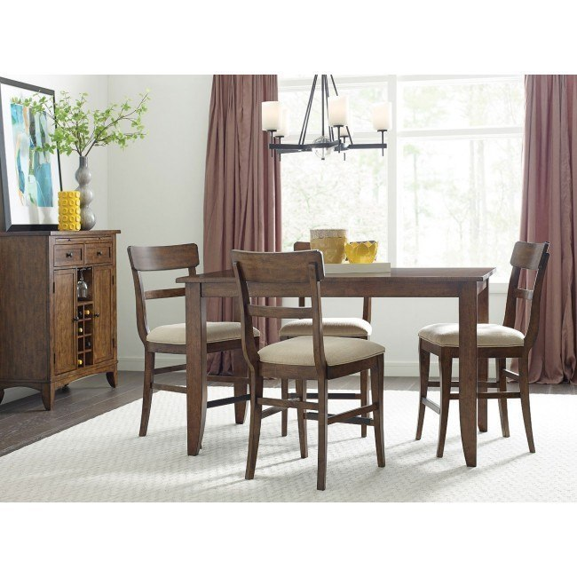 The Nook 60 Inch Counter Height Dining Room Set (Maple)