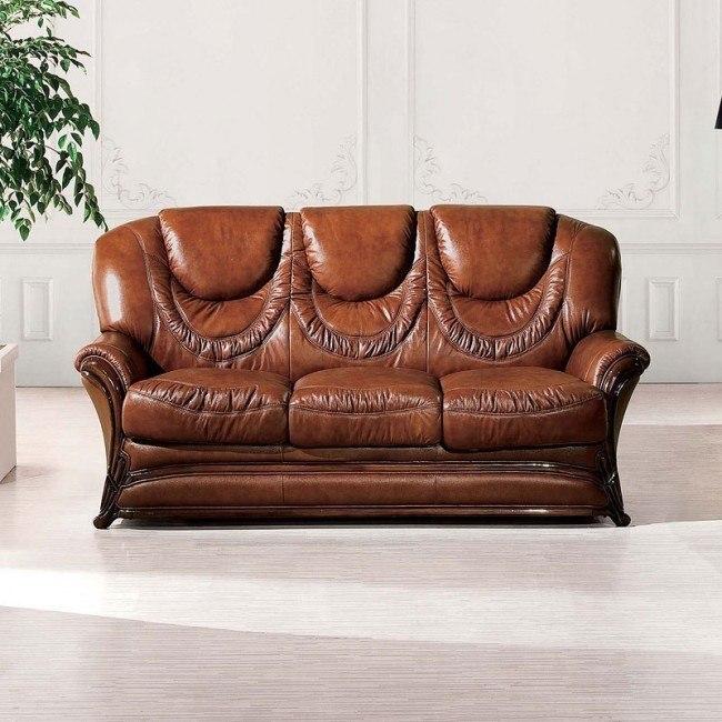 67 Italian Leather Sleeper Sofa