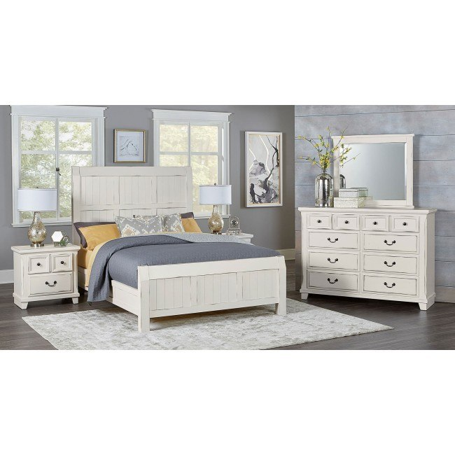 Timber Creek Bedroom Set Distressed White Vaughan Bassett
