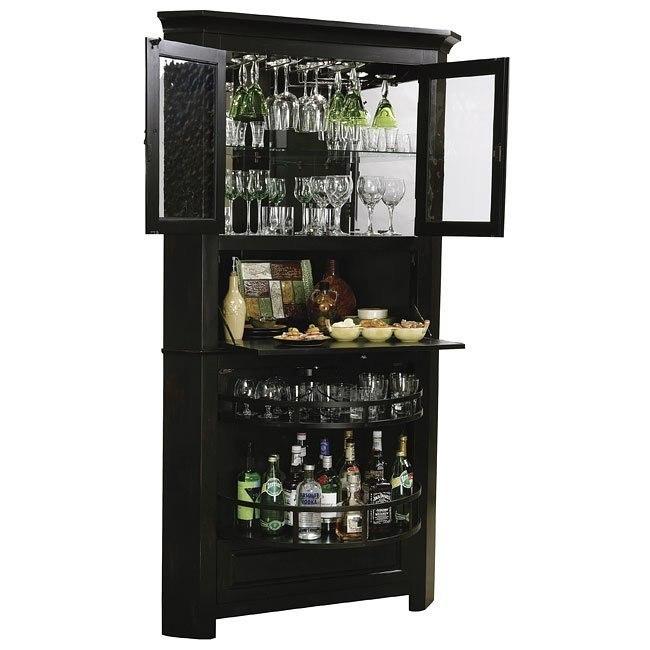 Cornerstone Estates Corner Bar Cabinet Howard Miller Furniture Cart
