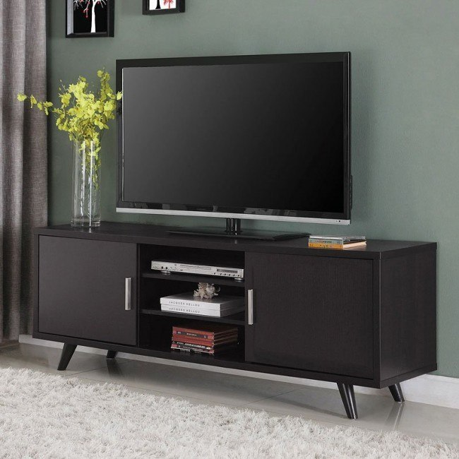 new product f1bb0 3e861 Mid-Century Modern TV Console w/ Two Doors