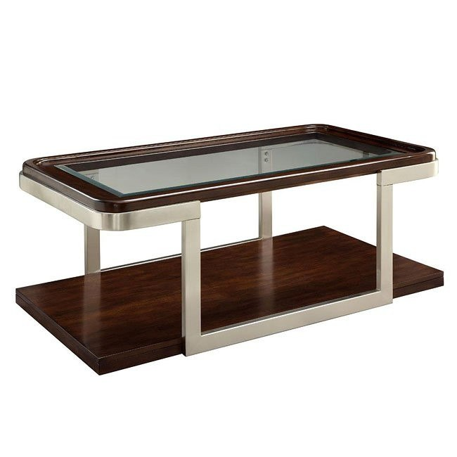 Stupendous Cappuccino And Satin Nickel Coffee Table Alphanode Cool Chair Designs And Ideas Alphanodeonline