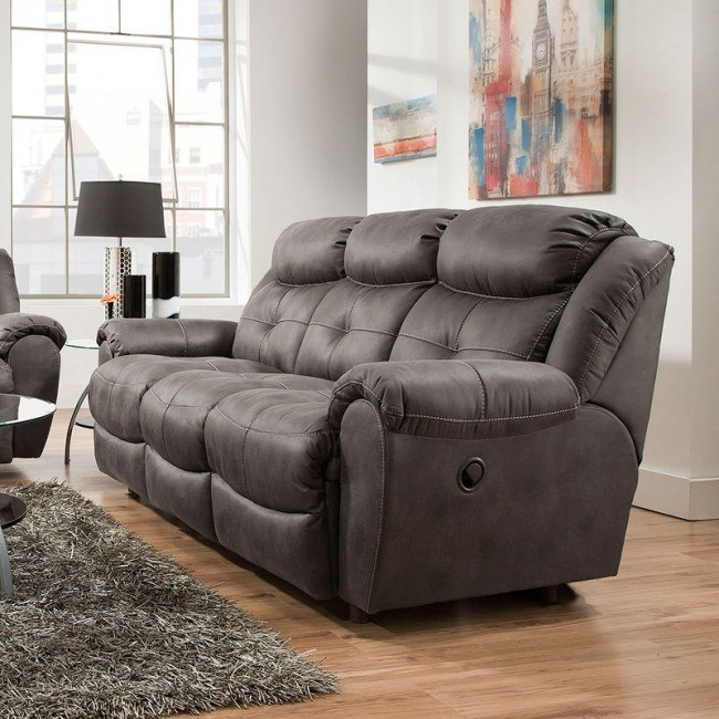Awesome Lisbon Reclining Sofa Cheyenne Graphite Pabps2019 Chair Design Images Pabps2019Com