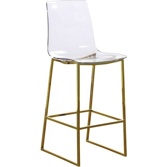 Incredible Lumen Acrylic Counter Height Stool Gold Inzonedesignstudio Interior Chair Design Inzonedesignstudiocom