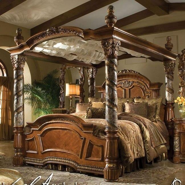 Villa Valencia Canopy Bed Aico Furniture Furniture Cart