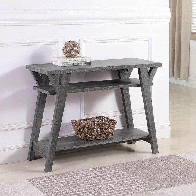 Distressed Grey Sofa Table Coaster