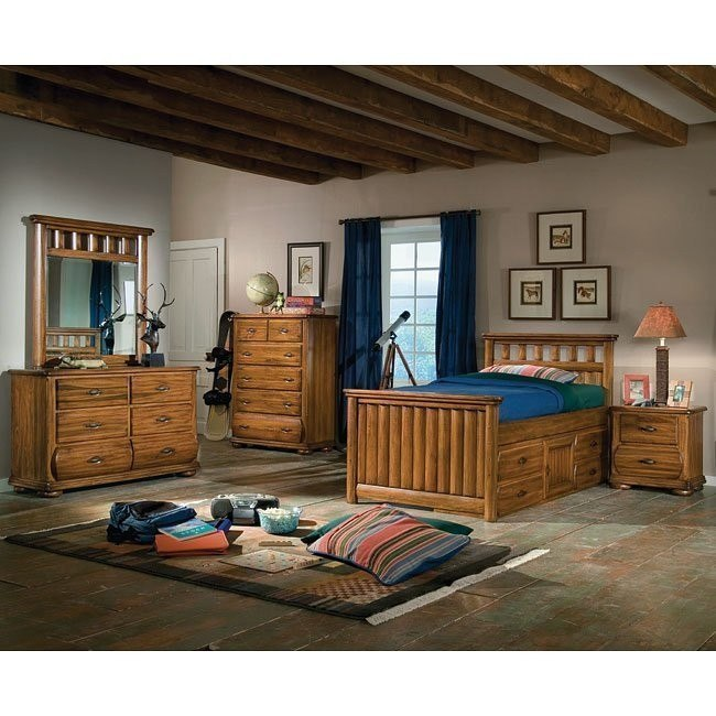 Timberline Captains Bedroom Set American Woodcrafters Furniture Cart