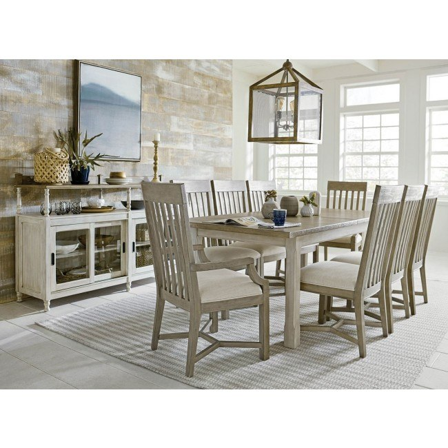 Litchfield Boathouse Dining Room Set w/ Driftwood Chairs