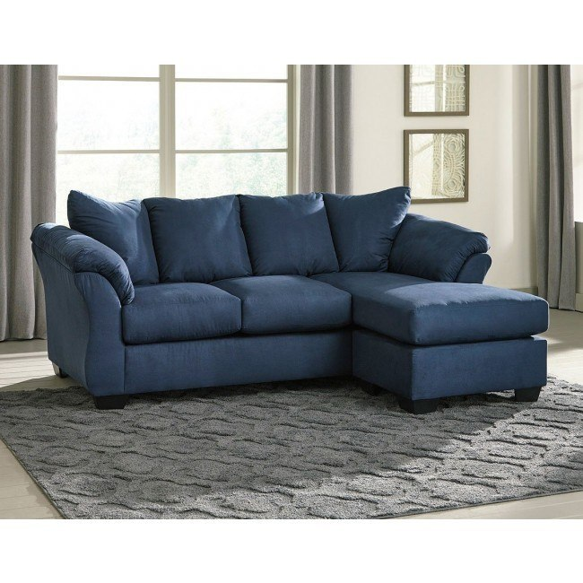 Swell Darcy Blue Sofa Chaise Inzonedesignstudio Interior Chair Design Inzonedesignstudiocom