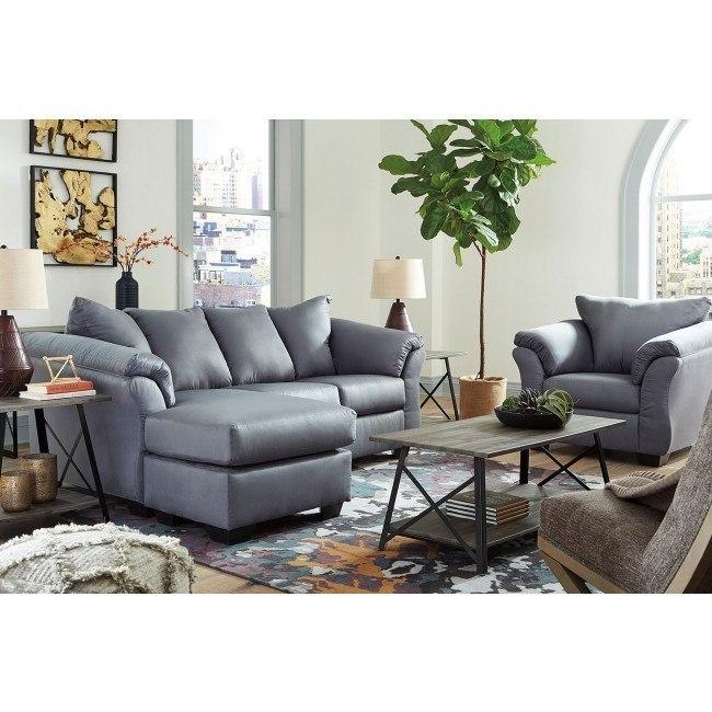 Awe Inspiring Darcy Steel Sofa Chaise Set Dailytribune Chair Design For Home Dailytribuneorg