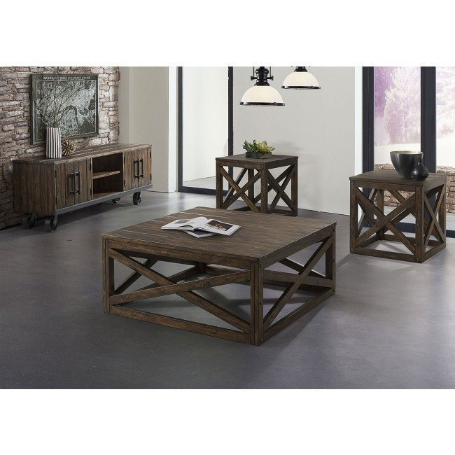 Peachy Rustic Burley Occasional Table Set Gmtry Best Dining Table And Chair Ideas Images Gmtryco