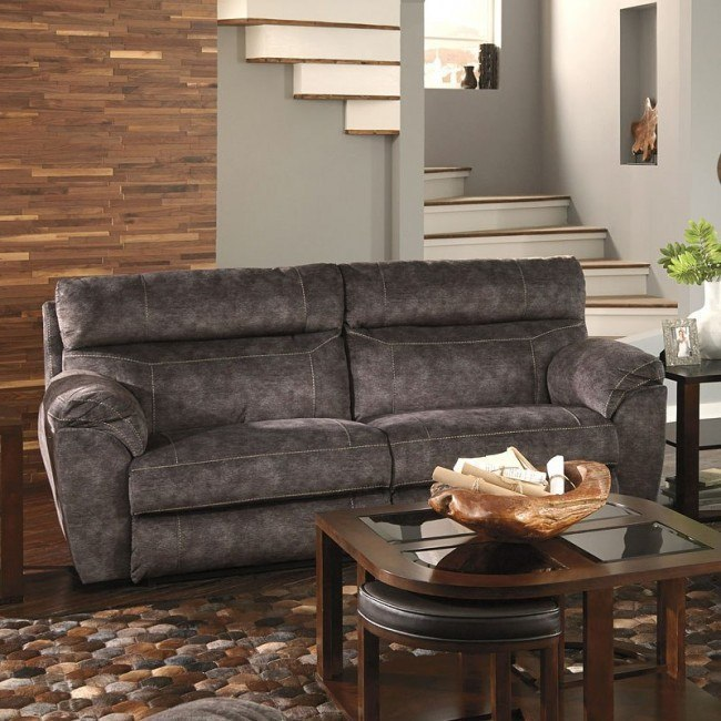 Brilliant Sedona Power Lay Flat Reclining Sofa W Power Headrest And Lumbar Smoke Dailytribune Chair Design For Home Dailytribuneorg