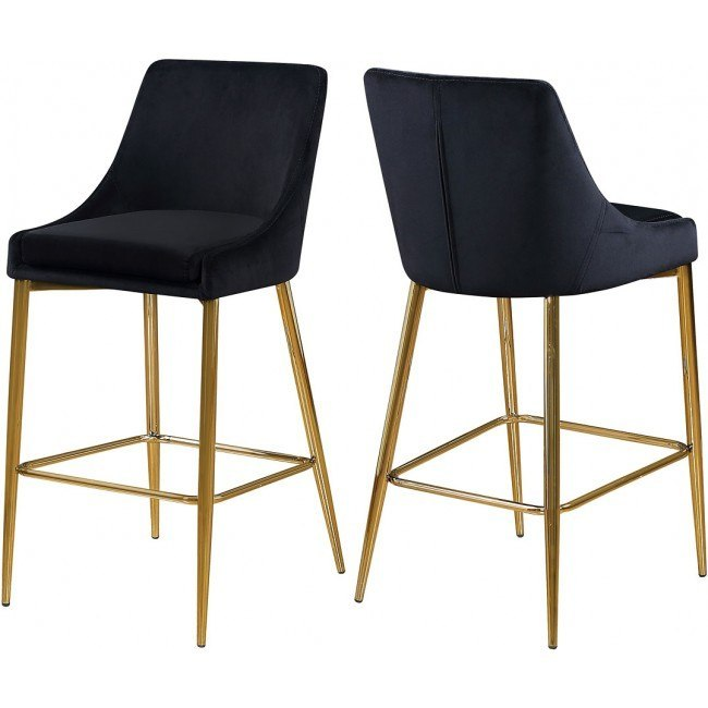Prime Karina Bar Counter Height Stool Black Gold Set Of 2 Unemploymentrelief Wooden Chair Designs For Living Room Unemploymentrelieforg